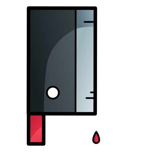 Bloody cleaver knife cartoon icon