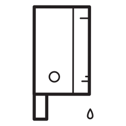 Icono de línea de cuchillo de cuchilla sangrienta