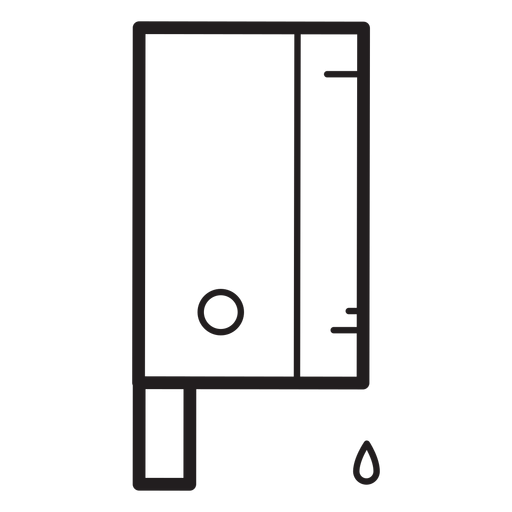Bloody cleaver knife line icon Transparent PNG