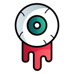 Bloody eyeball cartoon icon