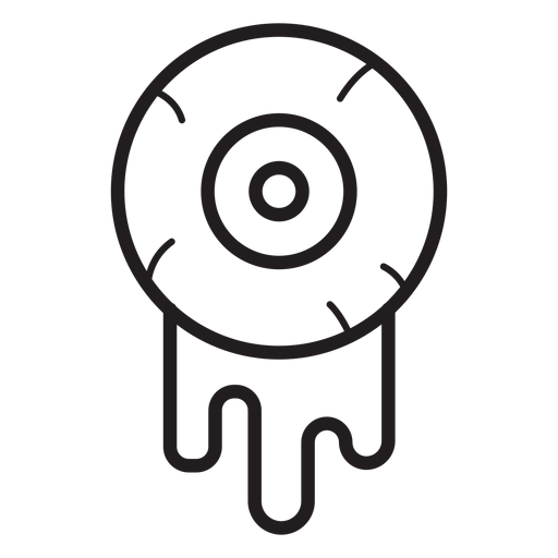 Bloody eyeball line icon Transparent PNG
