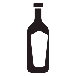 Bottle of wine black