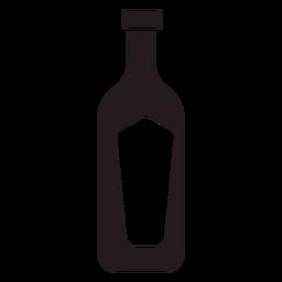 Flasche Wein schwarz