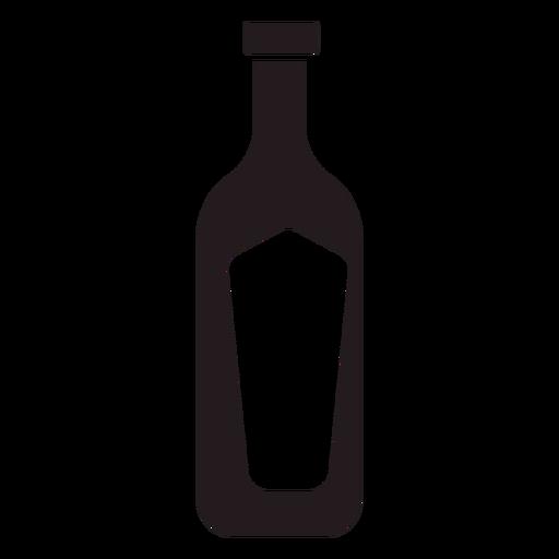 Bottle of wine black Transparent PNG