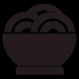 Tigela de macarrão preto