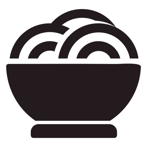 Bowl of pasta black Transparent PNG