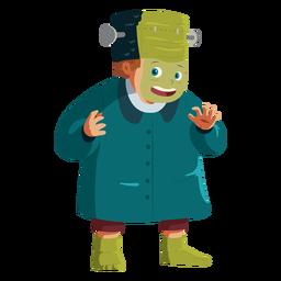 Niño vestido con traje de frankenstein
