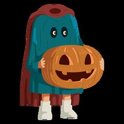 Niño vestido con traje de jinete sin cabeza