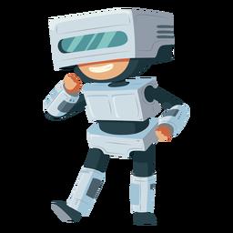 Niño vistiendo traje de robot