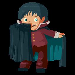 Junge, der Vampir Kostüm trägt