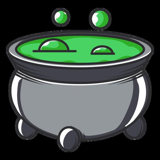 Bubbling cauldron icon cartoon
