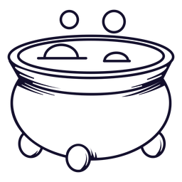 Bubbling cauldron icon line