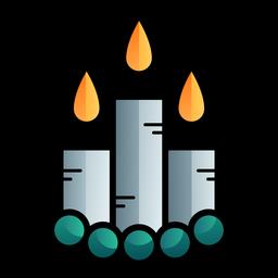 Burning candles cartoon icon