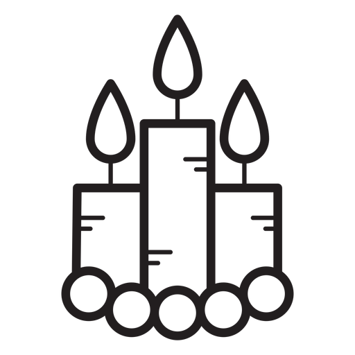 Burning candles line icon