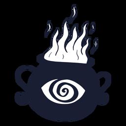 Silueta de caldero ardiente