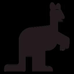 Vista lateral canguro negro