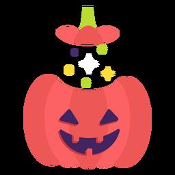 Calabaza tallada plana halloween