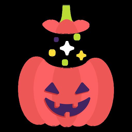 Carved pumpkin flat halloween Transparent PNG