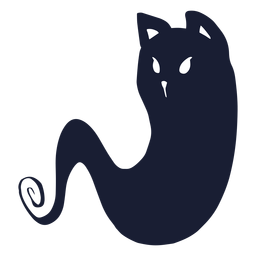 Cat ghost silhouette
