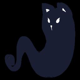 Silhueta de fantasma de gato