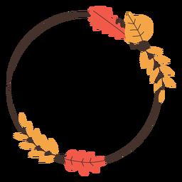 Marco de hojas de otoño círculo