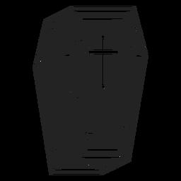 Icono de ataúd negro