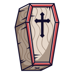 Coffin icon cartoon
