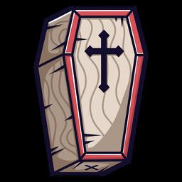 Dibujos animados icono de ataúd