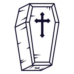 Línea de icono de ataúd