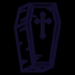 Linha de ícone de caixão