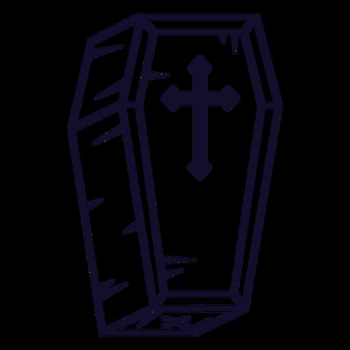 Coffin icon line