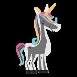 Ilustración colorida de unicornio
