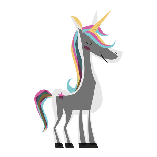 Ilustración de unicornio colorido Transparent PNG