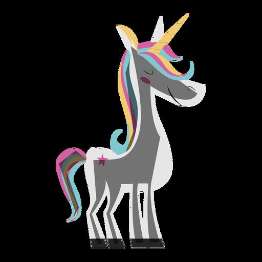 Ilustración de unicornio colorido