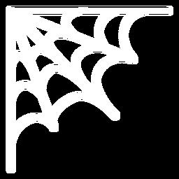 Teia de aranha de canto plana halloween