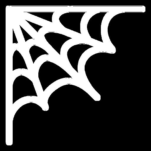 Corner spider web flat halloween