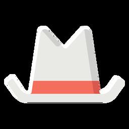 Cowboy hat flat icon cowboy