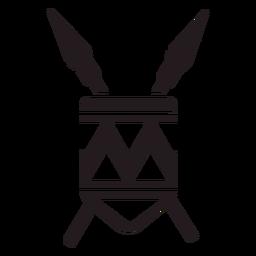 Emblema de armas de lucio cruzado negro