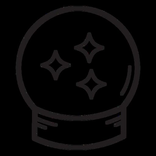 Icono de línea de bola de cristal