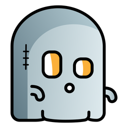 Cute ghost cartoon icon
