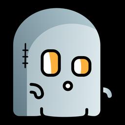 Ícone de desenho animado fantasma bonito