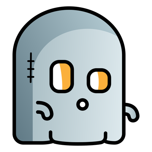 Cute ghost cartoon icon
