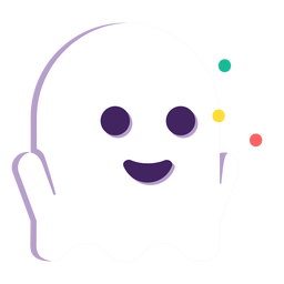 Cute ghost flat halloween