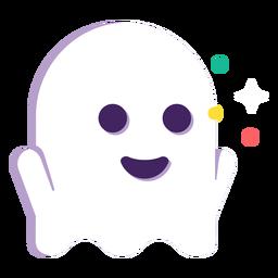 Dia das bruxas bonito fantasma plana