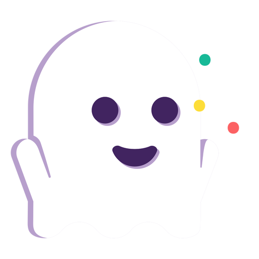 Cute ghost flat halloween
