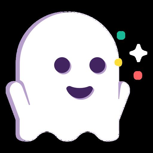 Lindo fantasma plano halloween