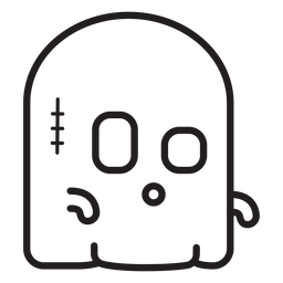 Cute ghost line icon
