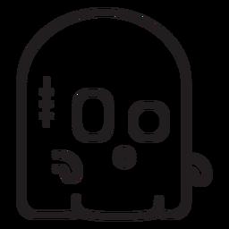 Icono de línea de fantasma lindo