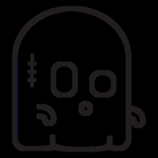 Ícone de linha fantasma fofo