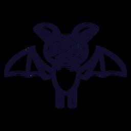 Cute little bat icon line